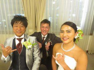 結婚披露パーティーに行ってきました