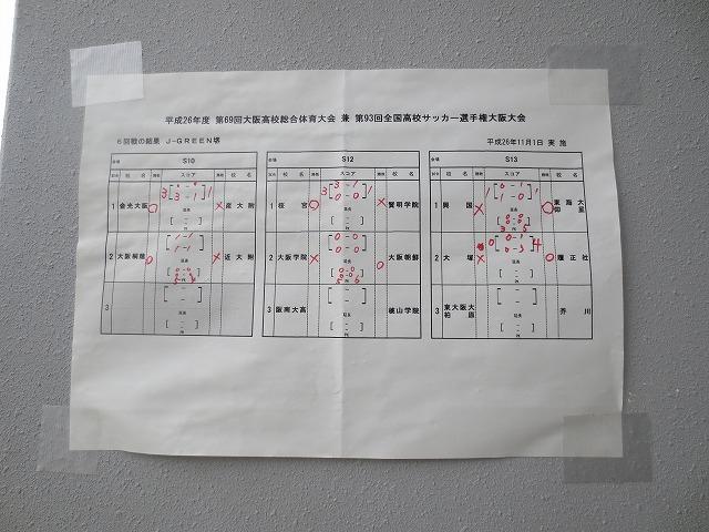 高校サッカー選手権 大阪大会6回戦