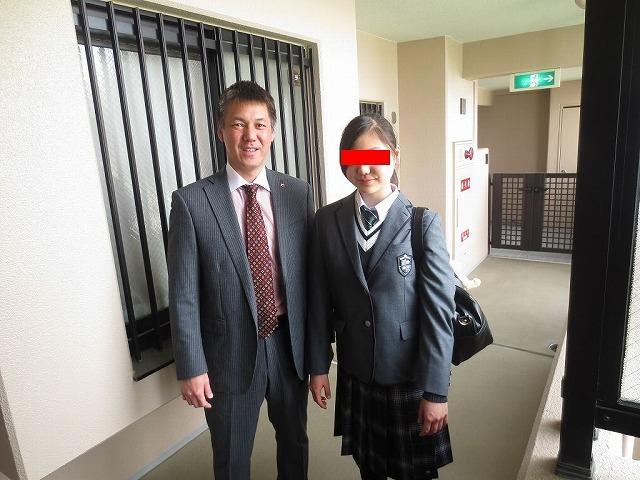 娘の高校入学式 でした
