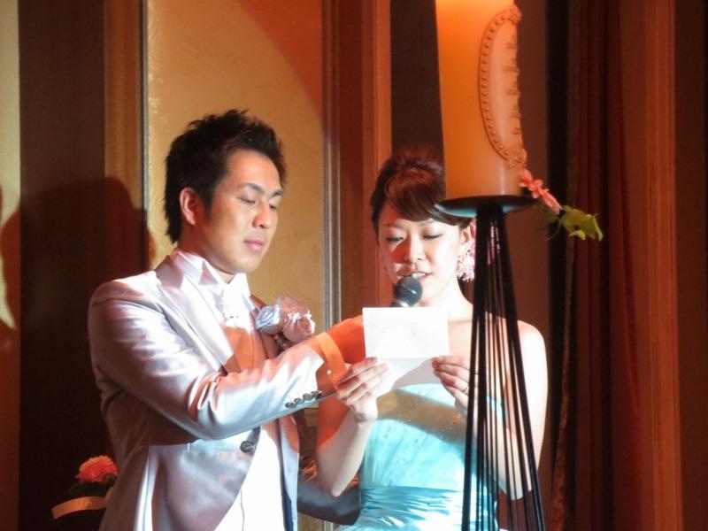 事務員さんの 結婚披露宴に出席してきました