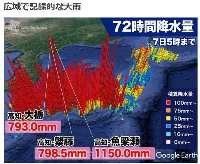 数十年に有るかの大雨洪水特別警報!【歴史的大雨】